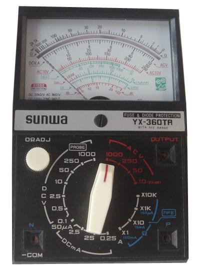 s. 20kΩ/v 交流电压 0~10~50~250~1000v ±4% f.s.